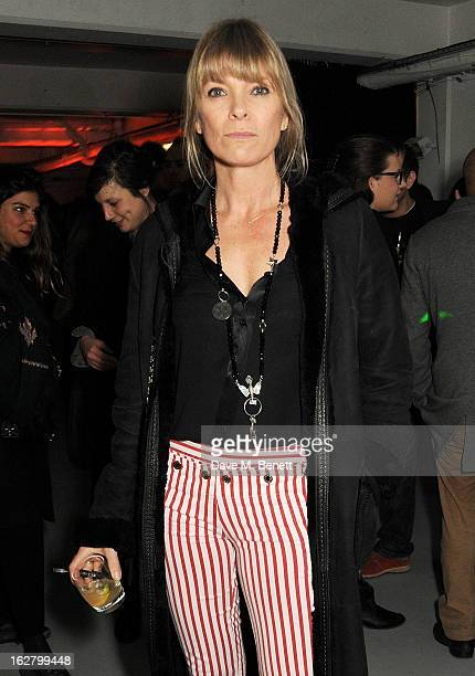Deborah Leng attends the launch of artist Dinos Chapman's first album 'Luftbobler' at The Vinyl Factory on February 27 2013 in London England