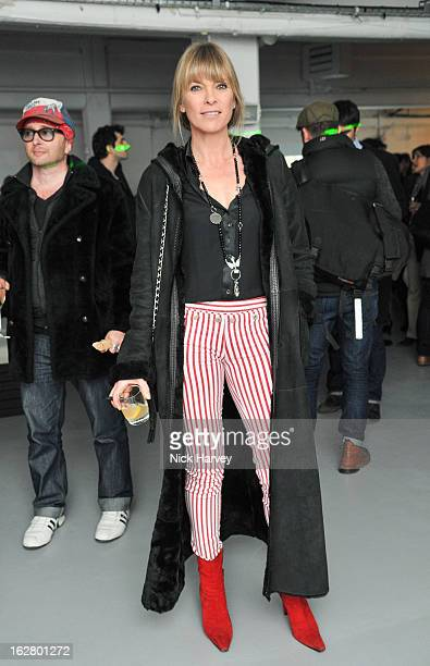 Deborah Leng attends the launch of Dinos Chapman's album 'Luftbobler' at The Vinyl Factory Gallery on February 27 2013 in London England