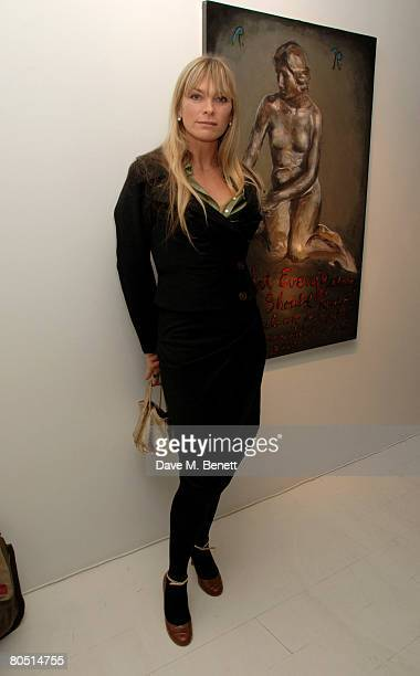 Deborah Leng attends the private view of Rene Ricard's latest exhibition 'What Every Young Sissy Should Know' at the Scream Gallery on April 3 2008...