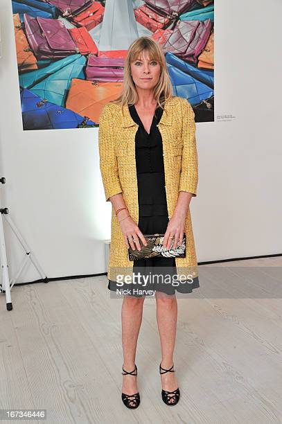 Deborah Leng attends the Roger Vivier book launch party at Saatchi Gallery on April 24 2013 in London England