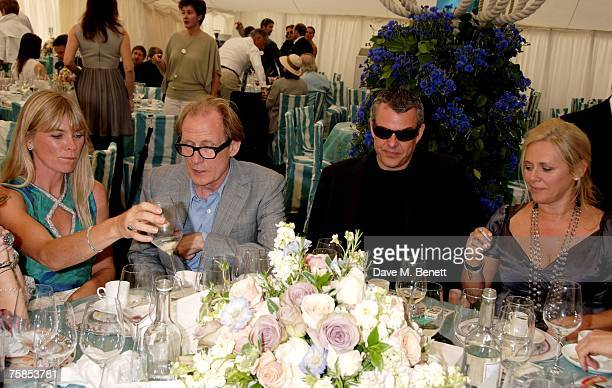Deborah Leng Bill Nighy Danny Huston and Kiera Parks attend the annual Cartier International Polo Day at the Cartier Marquee in Great Windsor Park on...