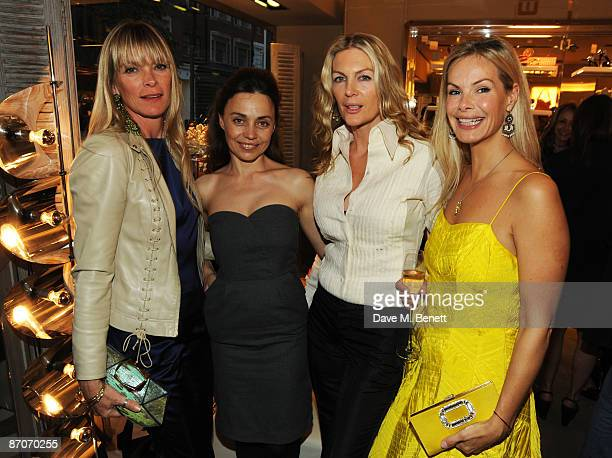 Deborah Leng Jeanne Marine Pricilla Waters and Emma Wollard attend the Roger Vivier Party in aid of The Warrior Programme at Roger Vivier on May 11...
