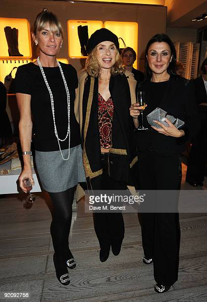 Deborah Leng Maryam D'Abo and Allegra Donn attend the A Princess To Be A Queen party in aid of Clic Sargent at Roger Vivier on October 20 2009 in...
