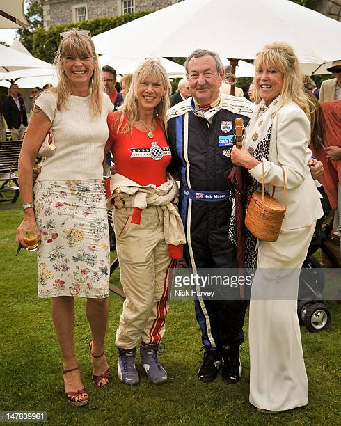 Deborah Leng Nettie Mason Nick Mason and Pattie Boyd attend Cartier Style Luxe Lunch Reception at Goodwood Festival of Speed at Goodwood on July 1...