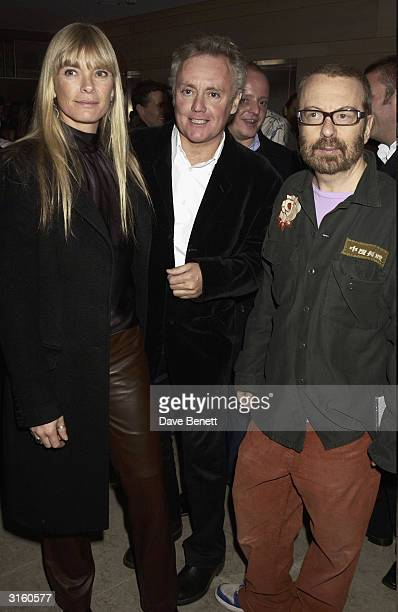 Deborah Leng Roger Taylor and Dave Stewart attend the launch party for The Hospital which is the latest music and art project by Dave Stewart at The...