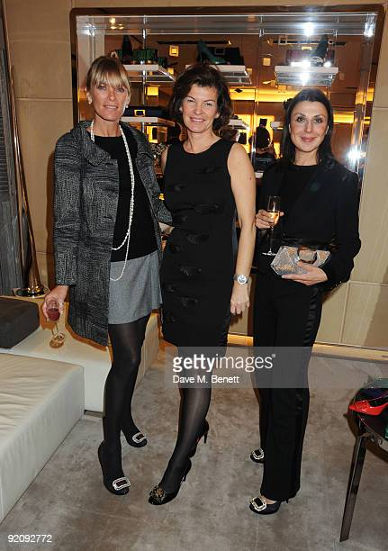 Deborah Leng Sophie Charbonneau and Allegra Donn attend the A Princess To Be A Queen party in aid of Clic Sargent at Roger Vivier on October 20 2009...