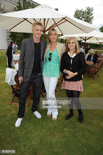 Deborah Leng with son Rufus Taylor and daughter Tiger Lily Taylor attend the Cartier Style et Luxe Concours at the Goodwood Festival of Speed on July...