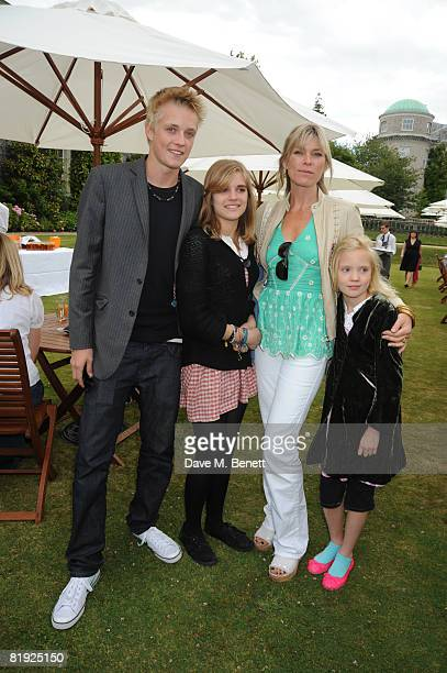Deborah Leng with son Rufus Taylor and daughters Tiger Lily Taylor and Lola Daisy May Leng Taylor attend the Cartier Style et Luxe Concours at the...