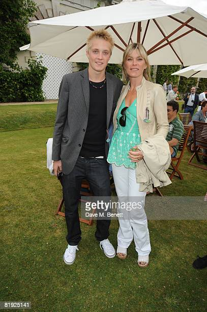Deborah Leng with son Rufus Taylor attend the Cartier Style et Luxe Concours at the Goodwood Festival of Speed on July 13 2008 in Goodwood England