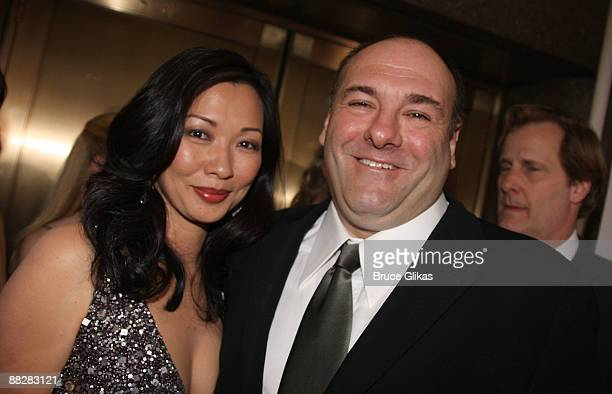 Deborah Lin and actor James Gandolfini attend the 63rd Annual Tony Awards at Radio City Music Hall on June 7 2009 in New York City