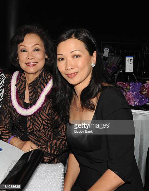 Deborah Lin and her motheri attends the Wounded Warrior Project Carry Foward Awards Arrivals at Club Nokia on October 10 2013 in Los Angeles...