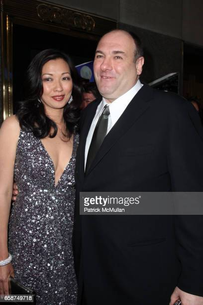 Deborah Lin and James Gandolfini attend 63rd Annual Tony Awards Arrivals at Radio City Music Hall on June 7 2009 in New York City