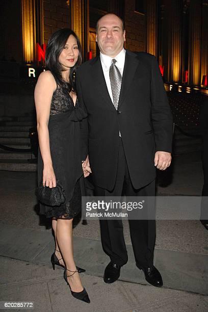 Deborah Lin and James Gandolfini attend VANITY FAIR Tribeca Film Festival Party hosted by GRAYDON CARTER ROBERT DE NIRO and RONALD PERELMAN at The...