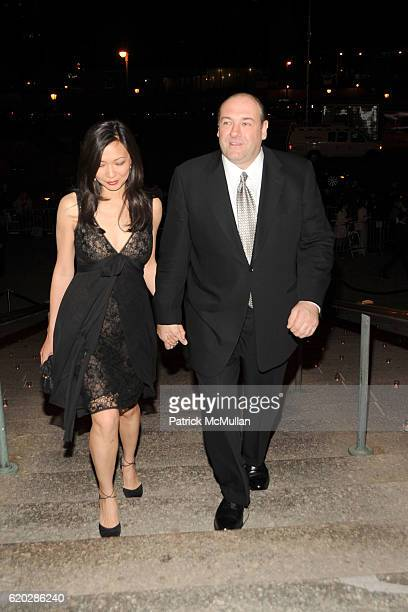 Deborah Lin and James Gandolfini attend VANITY FAIR Tribeca Film Festival Party hosted by GRAYDON CARTER ROBERT DE NIRO and RONALD PERELMAN at The...