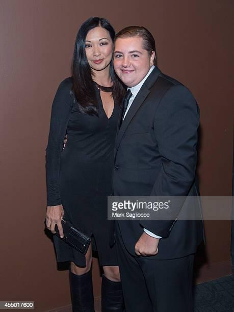 Deborah Lin and Michael Gandolfini attend The Drop New York City Premiere at the Sunshine Cinema on September 8 2014 in New York City