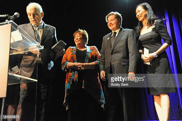 Deborah Lin David Chase Michael Gandolfini and Johanna Antonacci attends the Wounded Warrior Project Carry Forward Awards Show at Club Nokia on...