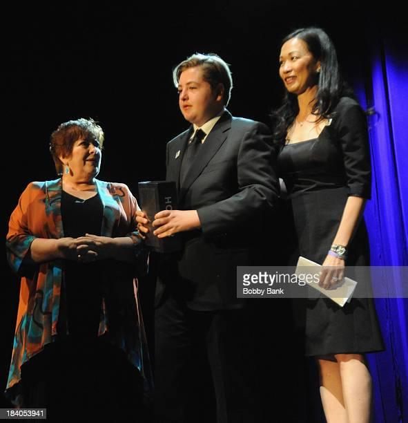 Deborah Lin Michael Gandolfini and Johanna Antonacci attends the Wounded Warrior Project Carry Forward Awards Show at Club Nokia on October 10 2013...