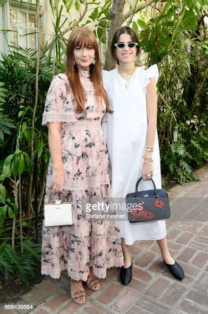 Deborah Lloyd and Leandra Medine attend CFDA/Vogue Fashion Fund Show and Tea at Chateau Marmont at Chateau Marmont on October 25 2017 in Los Angeles...