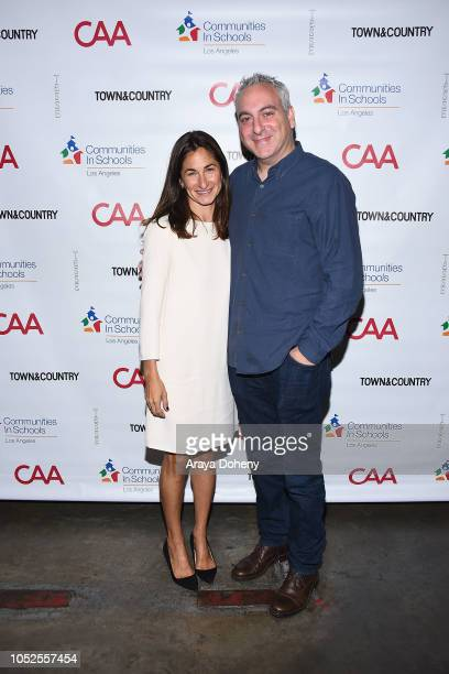 Deborah Marcus and Andrew Fried attend Communities In Schools LA 'Lunch With a Leader' on October 19 2018 in West Hollywood California