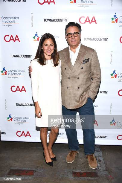 Deborah Marcus and Andy Garcia attend Communities In Schools LA 'Lunch With a Leader' on October 19 2018 in West Hollywood California
