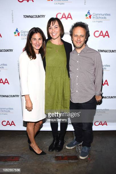 Deborah Marcus and Jake Kasdan attend Communities In Schools LA 'Lunch With a Leader' on October 19 2018 in West Hollywood California