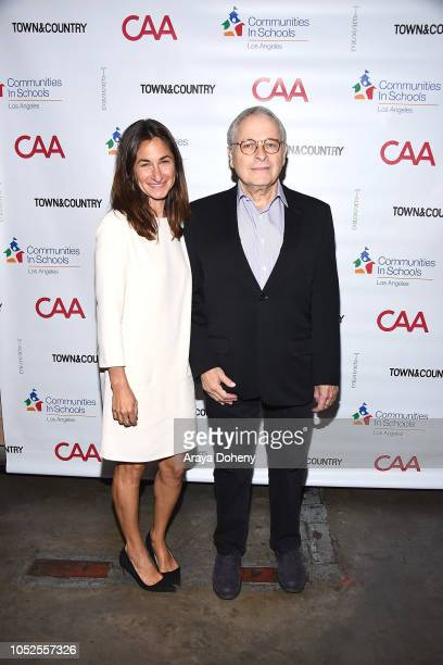 Deborah Marcus and Lawrence Kasdan attend Communities In Schools LA 'Lunch With a Leader' on October 19 2018 in West Hollywood California