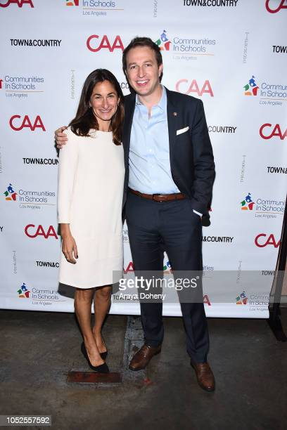 Deborah Marcus and Nick Melvoin attend Communities In Schools LA 'Lunch With a Leader' on October 19 2018 in West Hollywood California