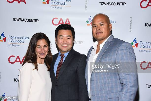 Deborah Marcus David Ryu and guest attend Communities In Schools LA 'Lunch With a Leader' on October 19 2018 in West Hollywood California