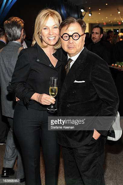 Deborah McLeod and Michael Chow attends 2013 REDCAT Gala Honoring Catherine Opie And The Walt Disney Company at REDCAT Theater on March 16 2013 in...