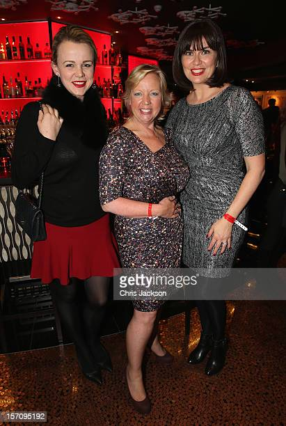 Deborah Meaden and Amanda Lamb pose for a photo as they attend the Tusk Trust 'Art for Life' Modern Art Auction at the Hippodrome on November 28,...