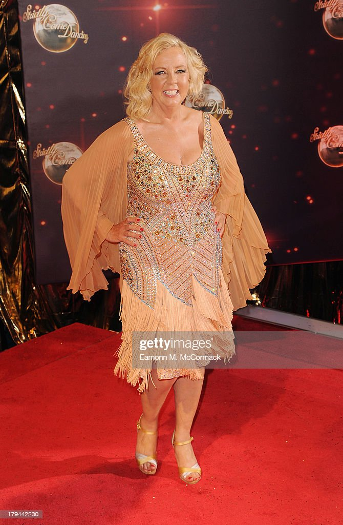 Deborah Meadon attends the red carpet launch for 'Strictly Come Dancing' at Elstree Studios on September 3, 2013 in Borehamwood, England.