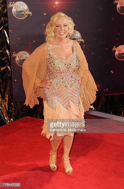 Deborah Meadon attends the red carpet launch for Strictly Come Dancing at Elstree Studios on September 3 2013 in Borehamwood England