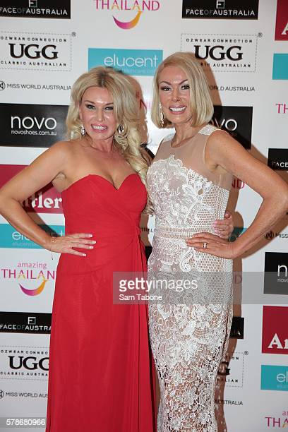 Deborah Miller and Janet Roche during the Miss World Australia 2016 National Final at Crown Palladium on July 22 2016 in Melbourne Australia