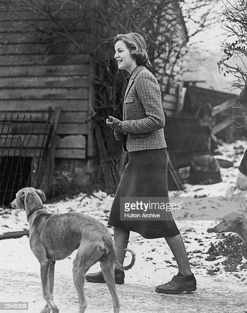 Deborah Mitford at Lord Redesdale's house at High Wycombe where she is awaiting the arrival of her sister Unity from Germany