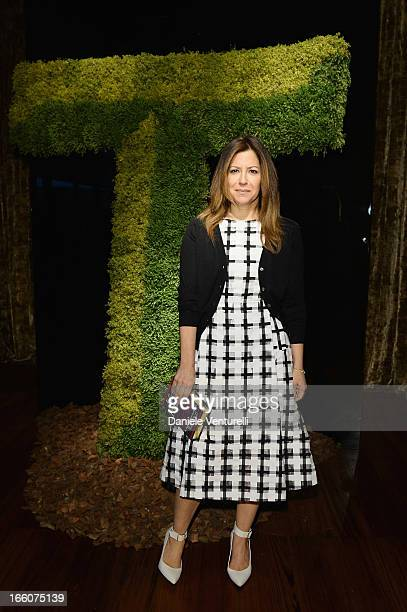 Deborah Needleman attend the T The New York Times Style Magazine garden party at the Bulgari Hotel on April 8 2013 in Milan Italy