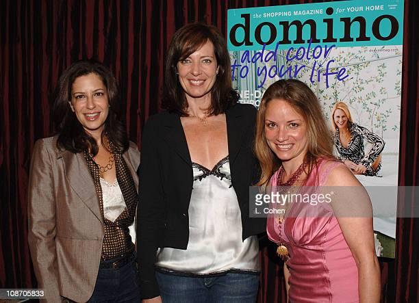 Deborah Needleman EditorinChief of Domino Allison Janney and Kim Ventre president of HD Buttercup