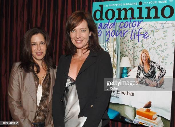 Deborah Needleman EditorinChief of Domino and Allison Janney