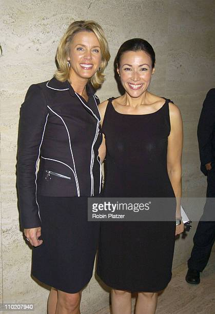 Deborah Norville and Ann Curry during Newsweek Party for The Republican Convention Given by Lally Weymouth at The Four Seasons Restaurant in New York...