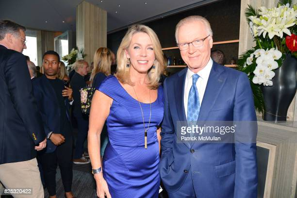 Deborah Norville and Chuck Scarborough attend Magrino PR 25th Anniversary at Bar SixtyFive at Rainbow Room on July 25 2017 in New York City