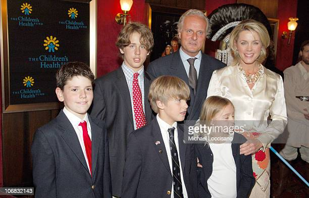Deborah Norville and Family during 'Star Wars Episode III Revenge Of The Sith' New York City Benefit Premiere Red Carpet at The Ziegfeld Theater in...