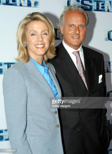 Deborah Norville and husband Karl Wellner during 'CSI NY' New York Premiere at Ed Sullivan Theater in New York City New York United States