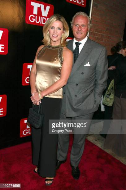 Deborah Norville and husband Karl Wellner during Launch of the New Big TV Guide Magazine Red Carpet Arrivals at Home and Guest House in New York City...