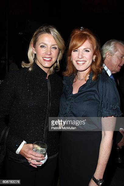 Deborah Norville and Liz Claman attend A Celebration for the Launch of THE FOX BUSINESS NETWORK at Temple of Dendur on October 24 2007 in New York...
