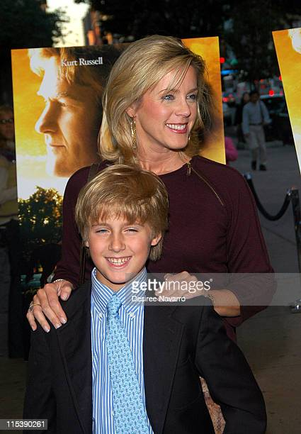 Deborah Norville and son during DreamWorks' NY 'Dreamer Inspired by a True Story' Fathers and Daughters Screening at Chelsea West Theatre in New York...