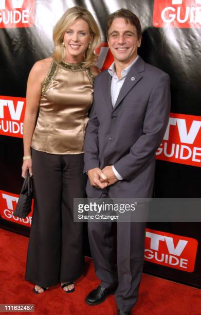 Deborah Norville and Tony Danza during Launch of the New Big TV Guide Magazine Arrivals at Home and Guest House in New York City New York United...