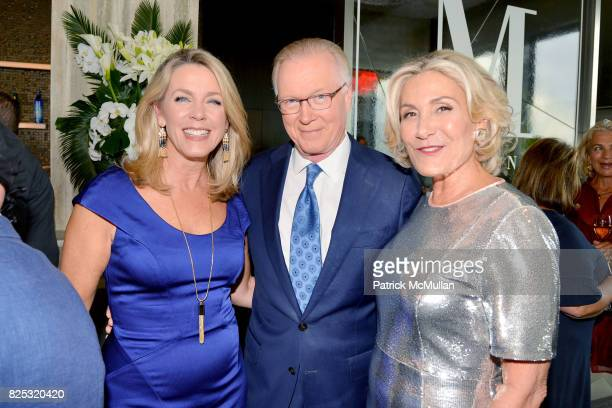 Deborah Norville Chuck Scarborough and Susan Magrino attend Magrino PR 25th Anniversary at Bar SixtyFive at Rainbow Room on July 25 2017 in New York...