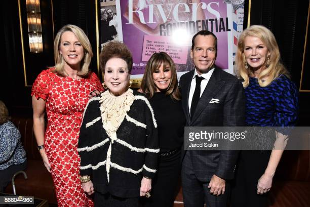 Deborah Norville Cindy Adams Melissa Rivers Scott Currie and Blaine Trump attend The Launch of 'Joan Rivers Confidential' published by Abrams at...