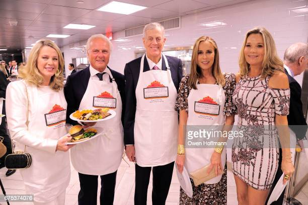 Deborah Norville Karl Wellner David Koch Julia Koch and Dr Eva Dubin attend Through The Kitchen with the Cancer Research Institute at The Grill The...