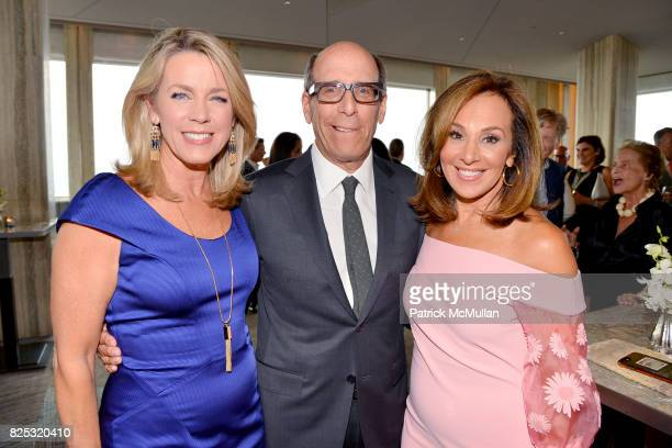 Deborah Norville Matt Blank and Rosanna Scotto attend Magrino PR 25th Anniversary at Bar SixtyFive at Rainbow Room on July 25 2017 in New York City