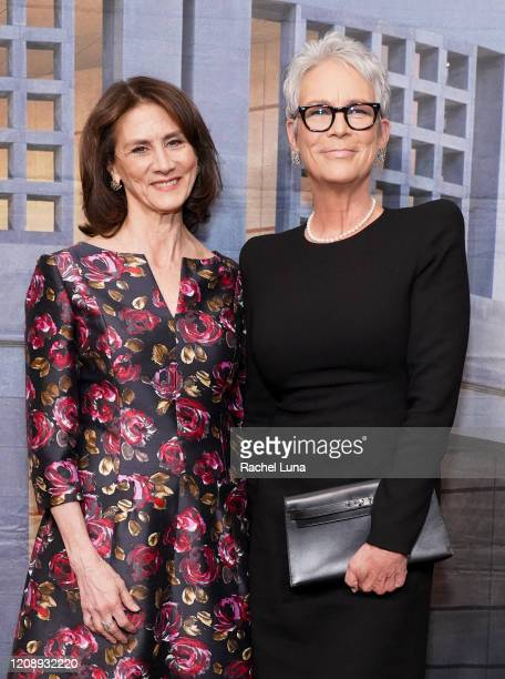 Deborah Oppenheimer and Jamie Lee Curtis attend United States Holocaust Memorial Museum's '2020 Los Angeles Dinner What You Do Matters' at The...